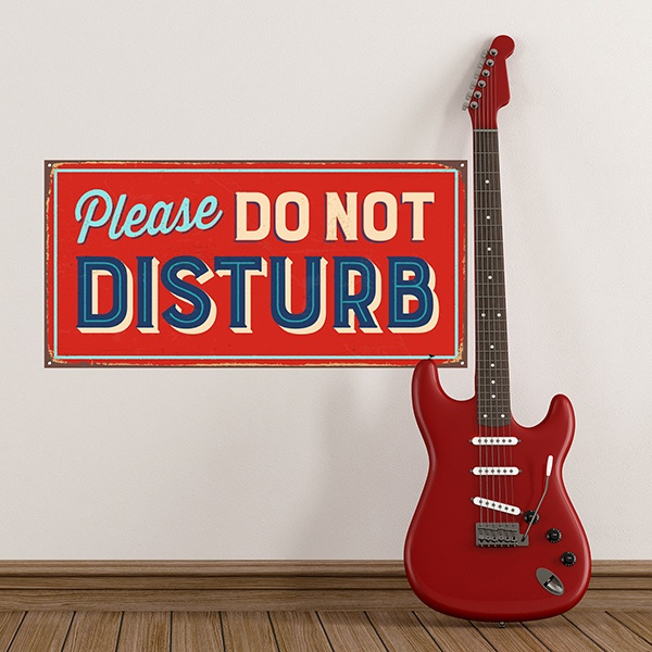 Adesivi Murali: Segno retro Please do not disturb 1
