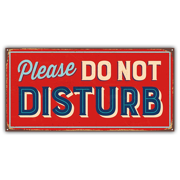 Adesivi Murali: Segno retro Please do not disturb