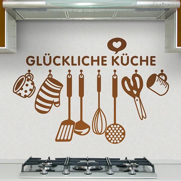 Adesivo murale per la cucina la cucina felice in tedesco - La cucina tedesca ...