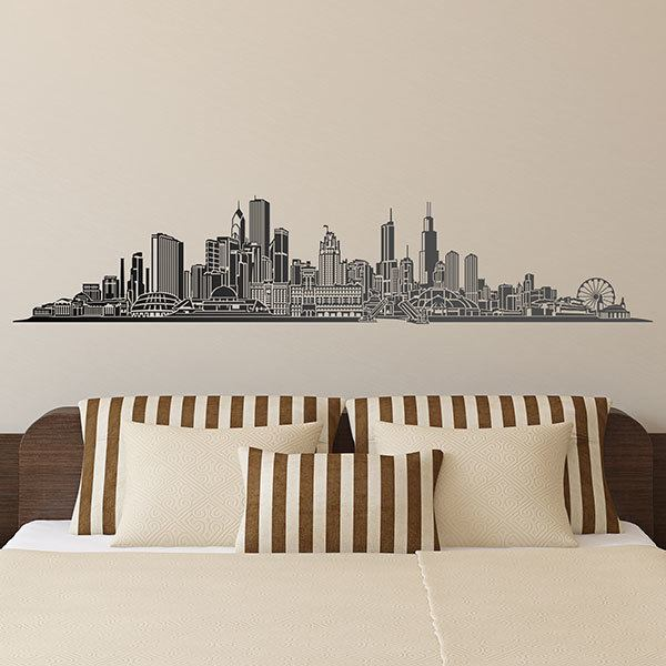 Adesivi Murali: Chicago skyline
