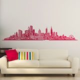 Adesivi Murali: Chicago skyline 2