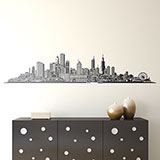 Adesivi Murali: Chicago skyline 3