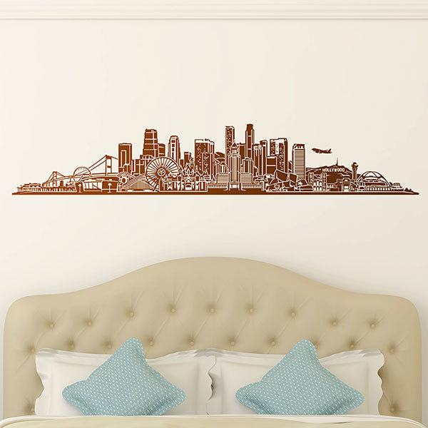 Adesivi Murali: Los Angeles Skyline 0