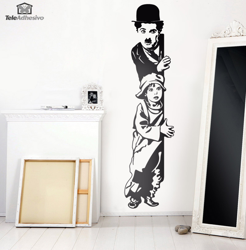 Adesivi Murali: Chaplin The Kid