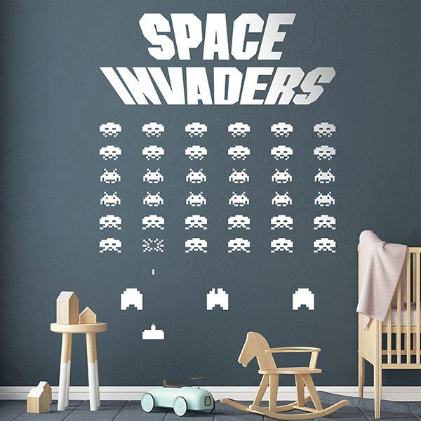 Adesivi Murali: Space Invaders Game