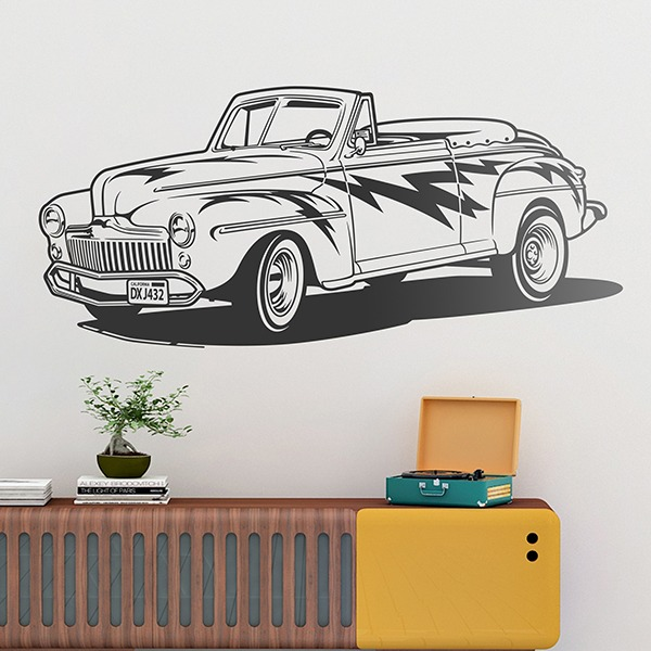 Adesivi Murali: Grease, Ford Convertible 1948
