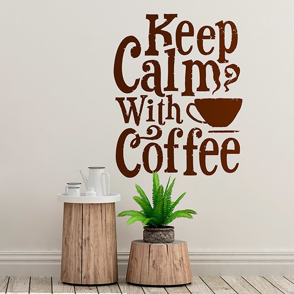 Adesivi Murali: Keep Calm with Coffee 0