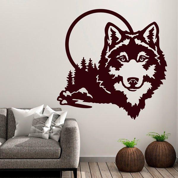 Adesivi murali lupo
