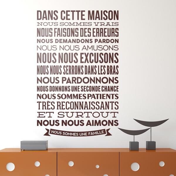 abbastanza Adesivi Murali Frasi Celebri Scritte in Francese LE32