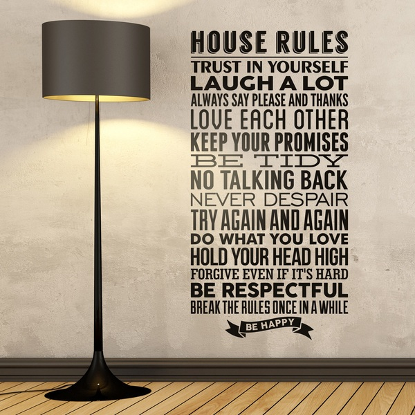 Adesivi Murali: House Rules