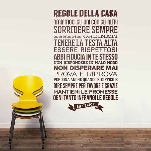 Amato Adesivi Murali Frasi in Italiano - StickersMurali.com TS18