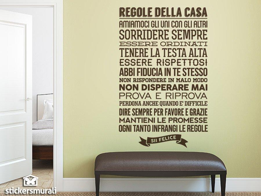 Adesivi murali regolle della casa for Stickers pareti