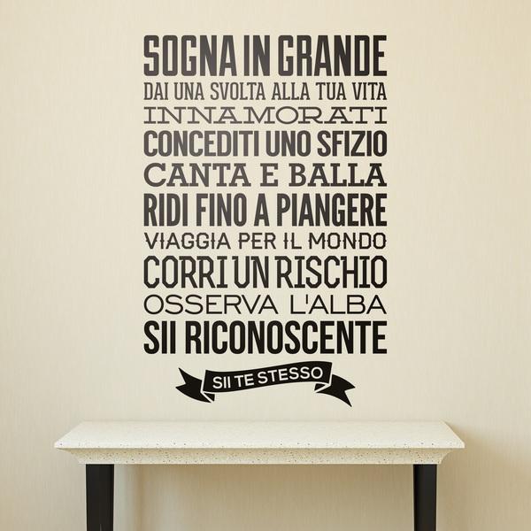 Ben noto Adesivi Murali Frasi in Italiano - StickersMurali.com FT92