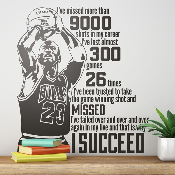 Adesivi Murali: The success of Michael Jordan