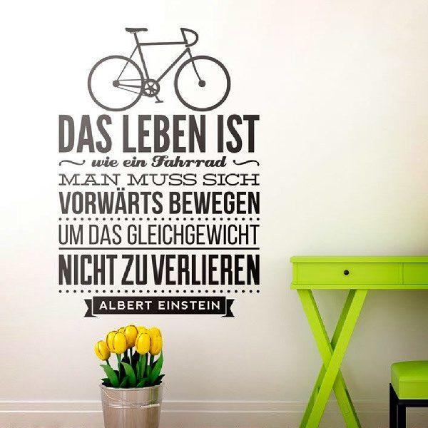 Adesivo Murale Das Leben Ist Wie Ein Fahrrad