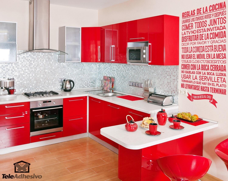 Adesivo murale regole della cucina for I cucina niente regole