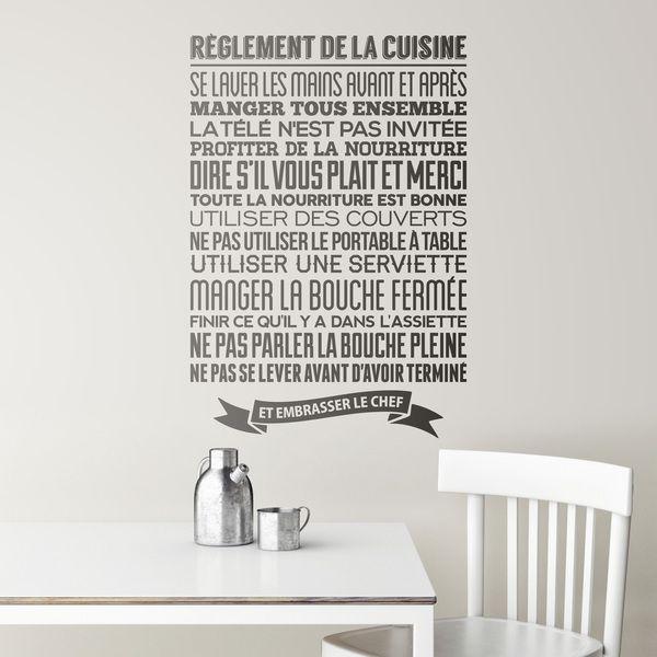 Adesivi Murali Frasi Celebri Scritte in Francese