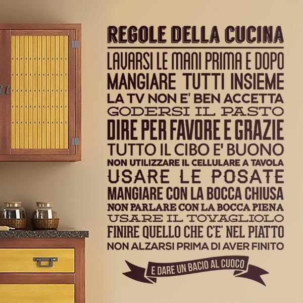 Adesivo murale per la cucina Regole de la Cucina | StickersMurali.com