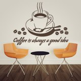 Adesivi Murali: Coffee is always a good idea 2