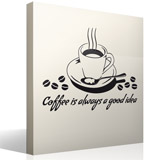 Adesivi Murali: Coffee is always a good idea 3