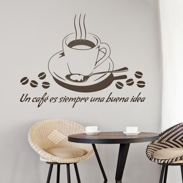 adesivi murali un caf es siempre una buena idea