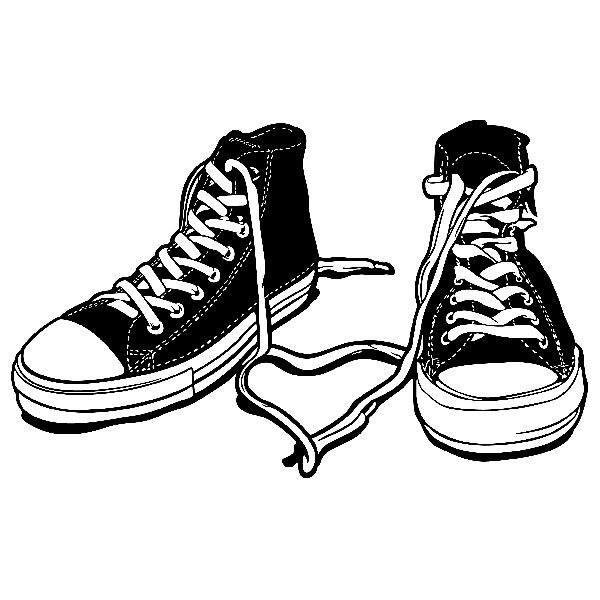 Adesivo murale bambini Scarpe Converse | StickersMurali.com