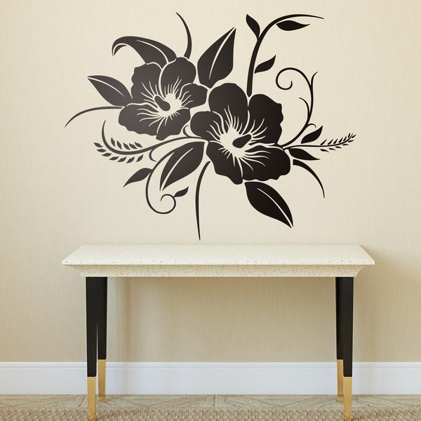 Adesivo murale orchidee floreali - Stickers decorativos ...