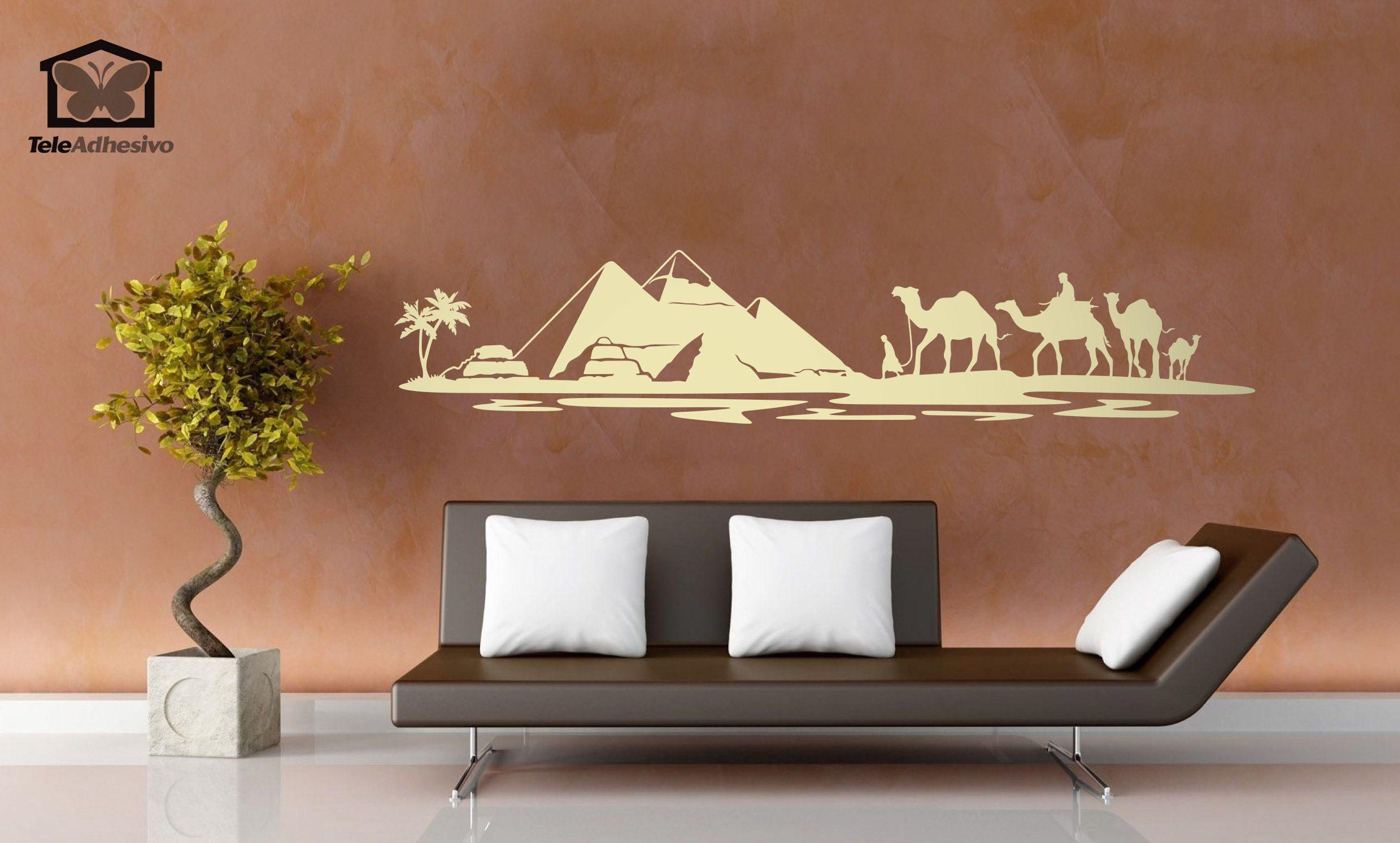 Adesivo murale piramidi nel deserto - Decorazioni murali ikea ...