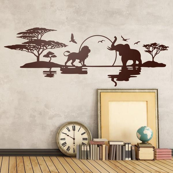 Adesivi Murali Adesivo in vinile animali amici Wall Stickers da parete auto pc