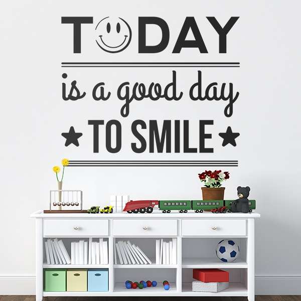 Adesivi Murali: Today is a good day to smile