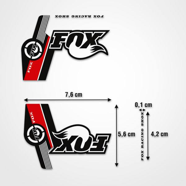 Adesivi per Auto e Moto: Adesivi Fox Racing Shox forcelle Mountain Bike 1