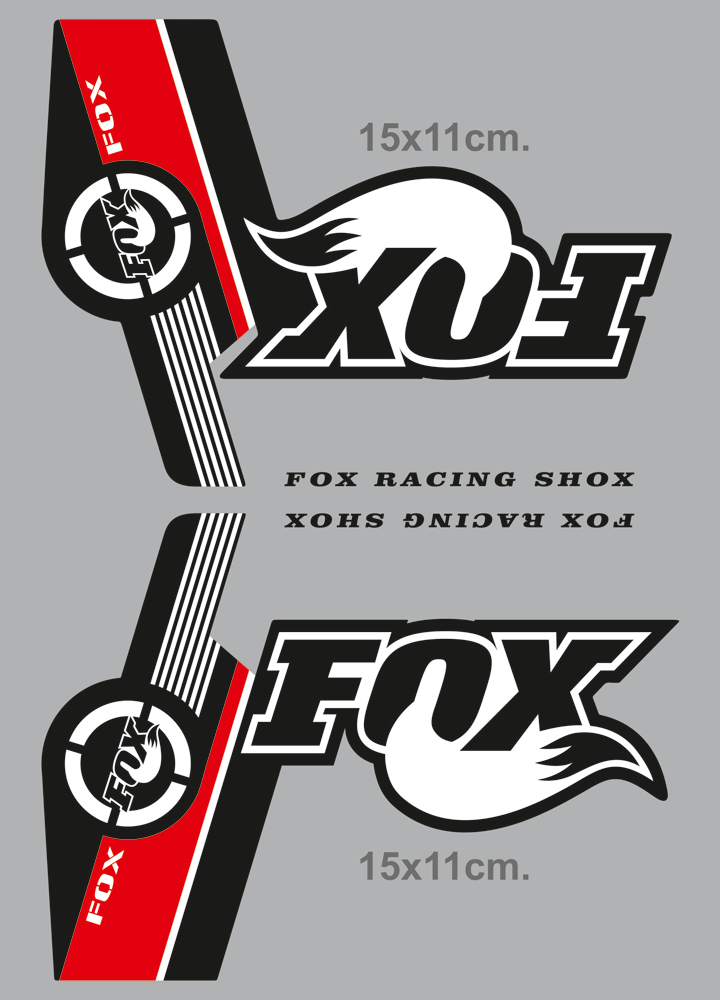 Adesivi per Auto e Moto: Adesivi Fox Racing Shox forcelle Mountain Bike
