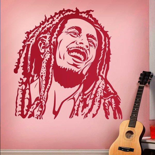 Adesivi Murali Bob Marley.Sticker Murale Bob Marley Sorriso Stickersmurali Com