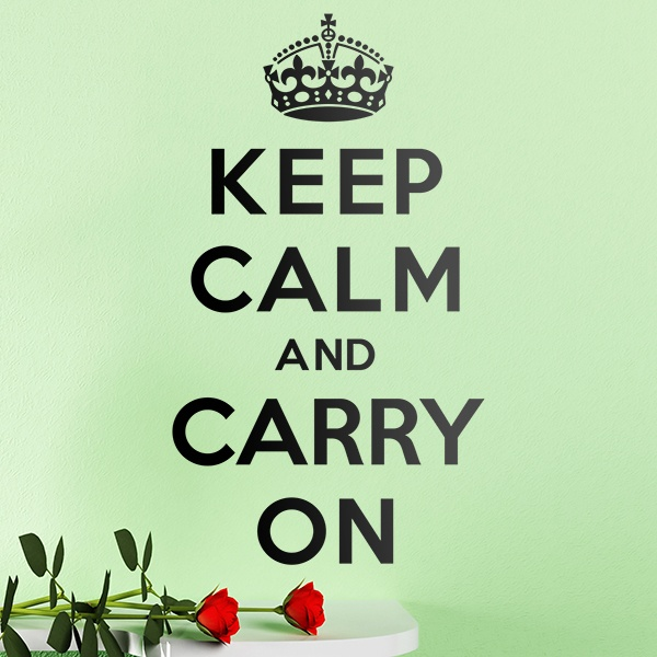 Adesivi Murali: Keep Calm And Carry On