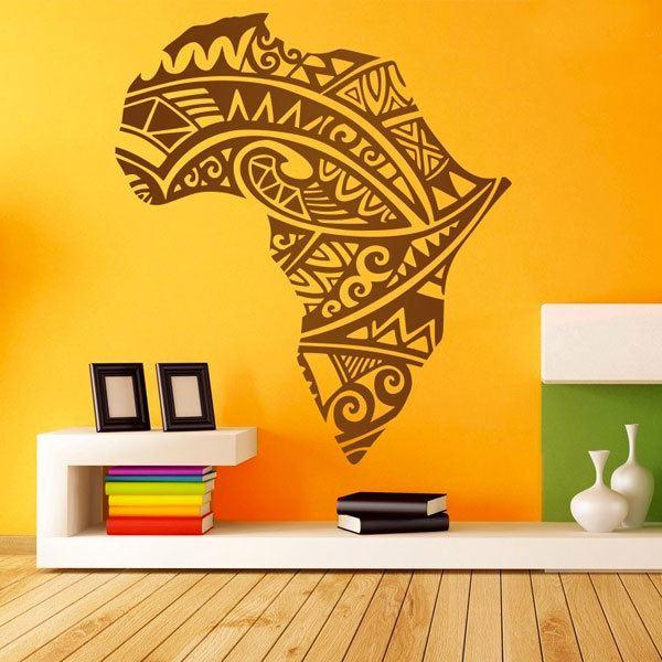 Adesivi Murali Africa Silhouette tatuaggio tribale