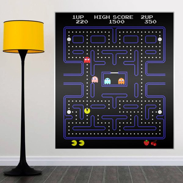 Adesivi Murali: Pac-Man Arcade Game Color