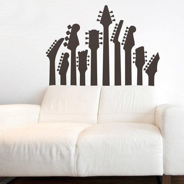Sticker murale alberi chitarra - Diversi tipi di musica ...