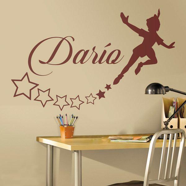 Stickers Parete Personalizzati.Adesivo Murale Bambini Peter Pan Personalizzato