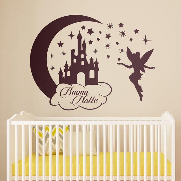 Adesivo Murale Bambini Castello E Campana Buona Notte