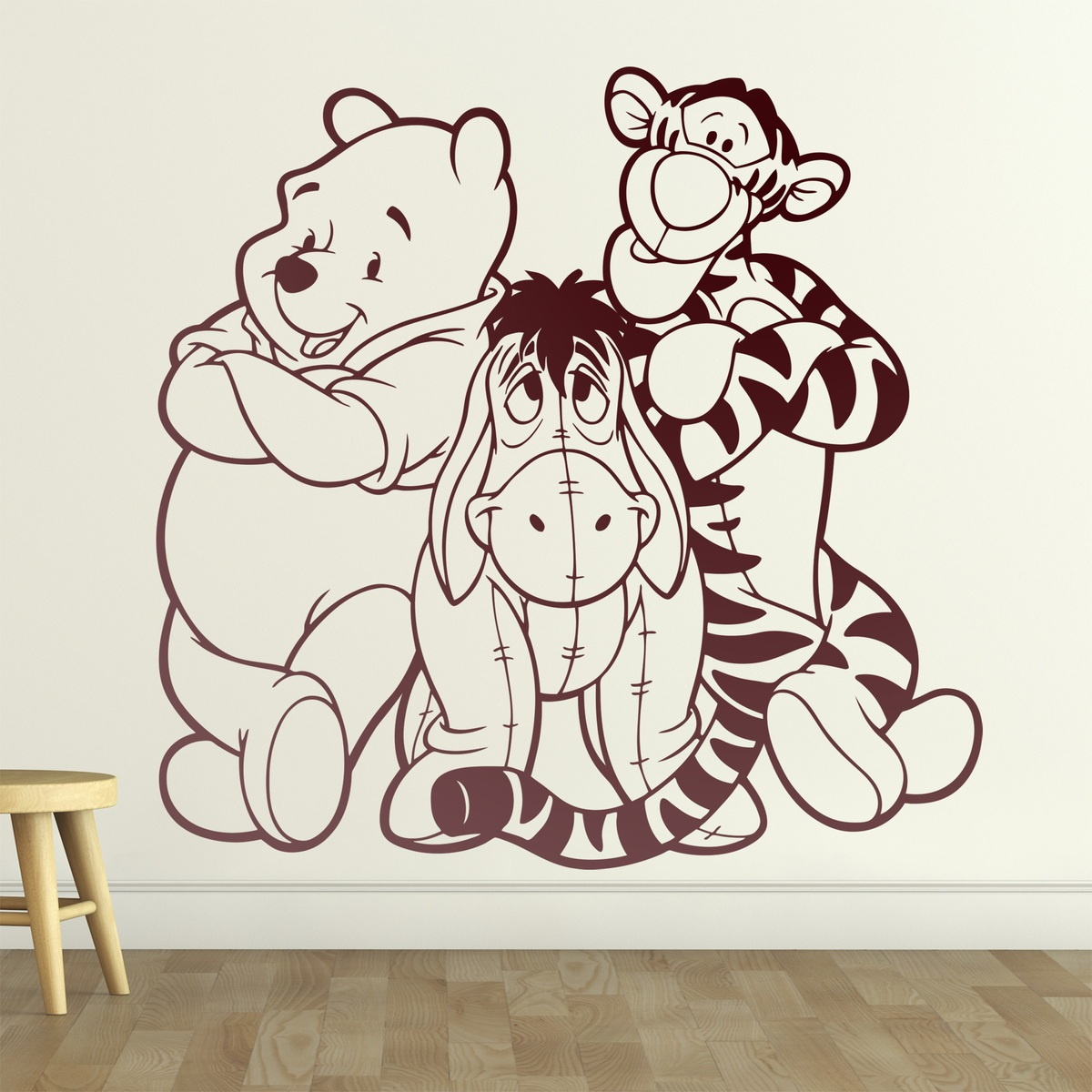 adesivo murale per bambini disney winnie the pooh. Black Bedroom Furniture Sets. Home Design Ideas