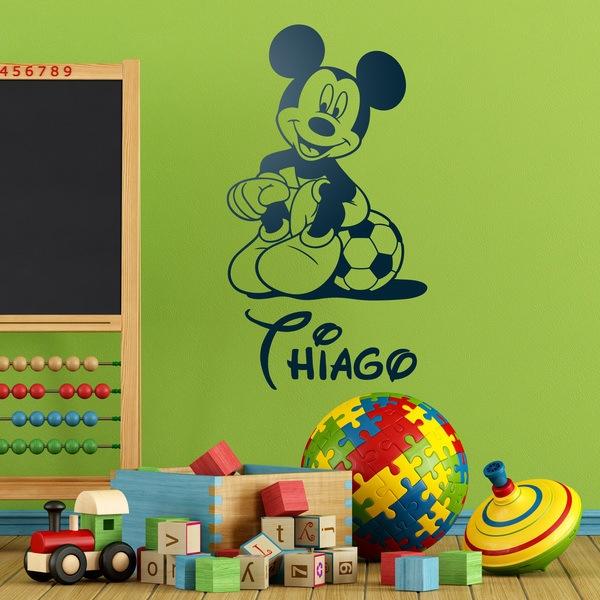 adesivi murali bambini disney topolino calcio 4
