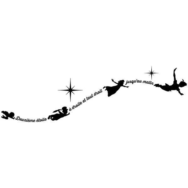 Adesivi Murali Peter Pan.Adesivo Murale Bambini Tipografico Peter Pan In Francese