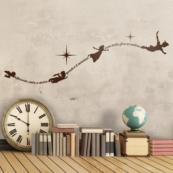 Adesivi Murali Peter Pan.Adesivo Murale Bambini Tipografico Peter Pan In Italiano