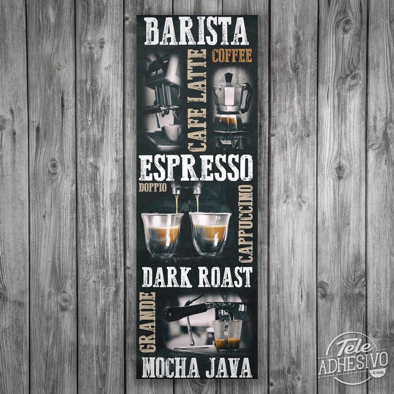 Poster adesivi in vinile tipi di caff - Diversi tipi di caffe ...
