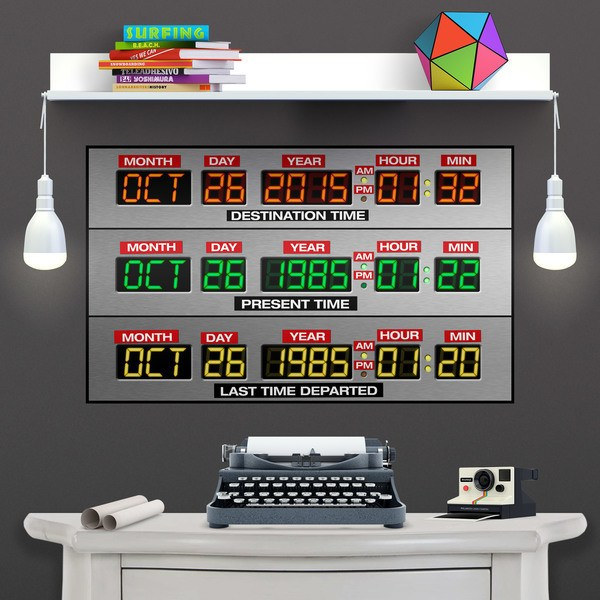 Adesivi Murali: DeLorean Time Panel