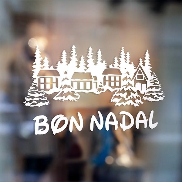 Adesivi Buon Natale.Adesivi Murale Di Buon Natale In Catalano Stickersmurali Com