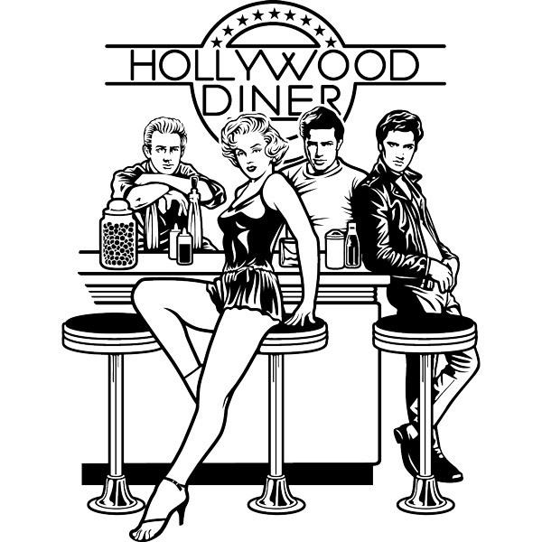Adesivi Murali: Hollywood Diner