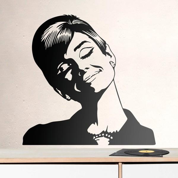 Adesivi Murali Audrey Hepburn.Adesivo Murale Audrey Hepburn Sogna Stickersmurali Com