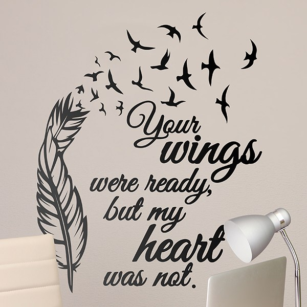 Adesivi Murali: Your Wings were ready...