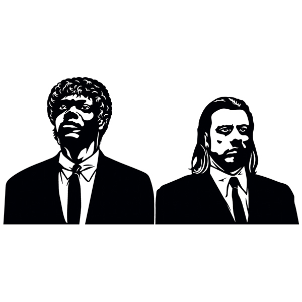 Adesivi Murali: Pulp Fiction, Vincent e Jules